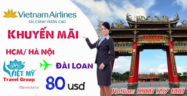 Vietnam Airlines khuyến mãi đi Đài Loan