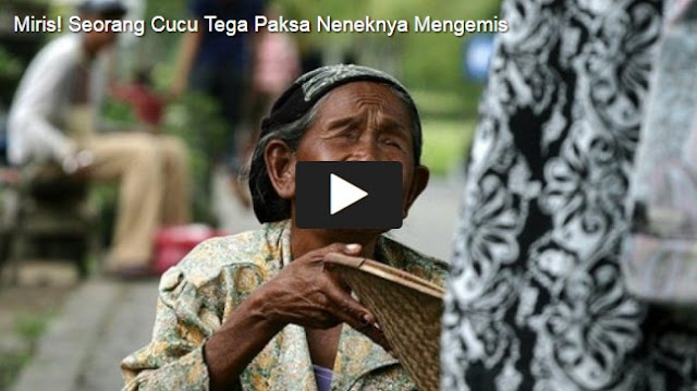 KEJAMNYA, Nenek Usia 93 Tahun Dipaksa Mengemis Kena Hujan Panas, Uangnya Diambil Pemuda Ini