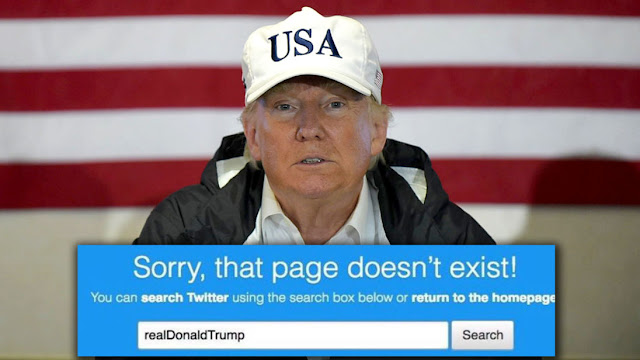 A search for Trump's Twitter handle led to an empty page for 11 minutes