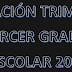 PLANEACION PRIMER TRIMESTRE 3° PRIMARIA CICLO ESCOLAR 2018-2019