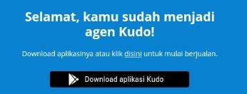 Registrasi Berhasil dalam pendaftaran KUDO