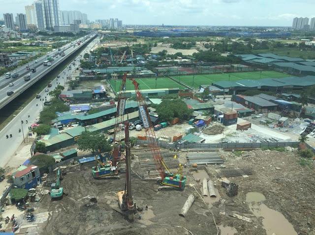 Chung cư Housinco Grand Tower đang được đẩy nhanh tiến độ