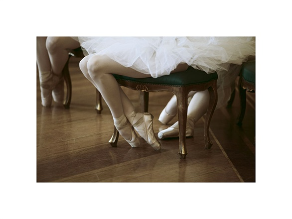 Beautiful feminine photo of ballerina in pointe shoes with tutu Vogue Italy seen on Hello Lovely