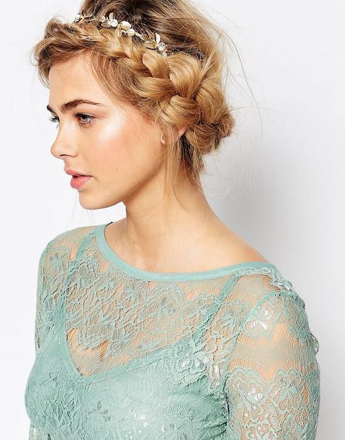 love rocks floral headband, asos wedding hair accessory,