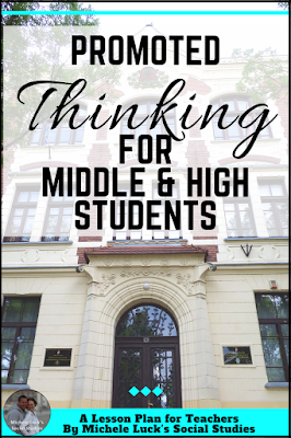 Teaching ideas and tips for practicing skills for historical thinking in the secondary (middle or high school) social studies classroom