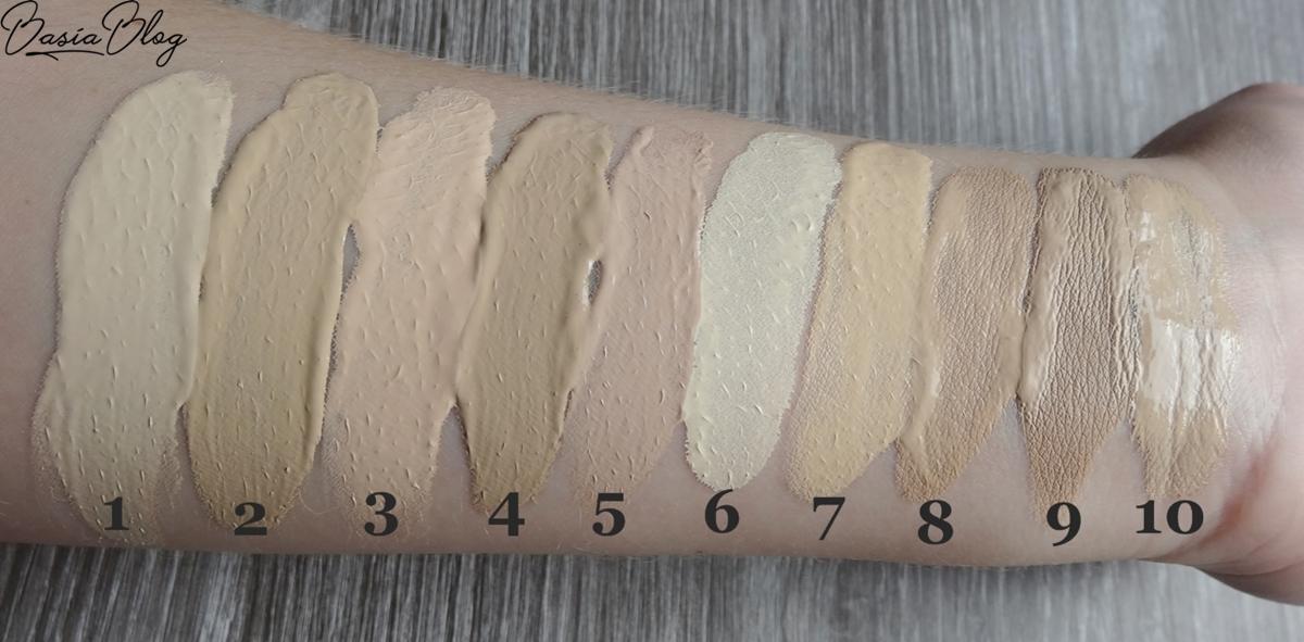 swatche jasnych podkładów, jasny podkład, pale foundation, Lorigine Mythique Charm 1.5 Ivory