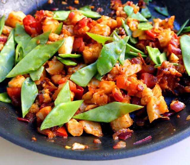 Oppskrift Blomkålpanne Pitabrød Stekt Blomkål Taco