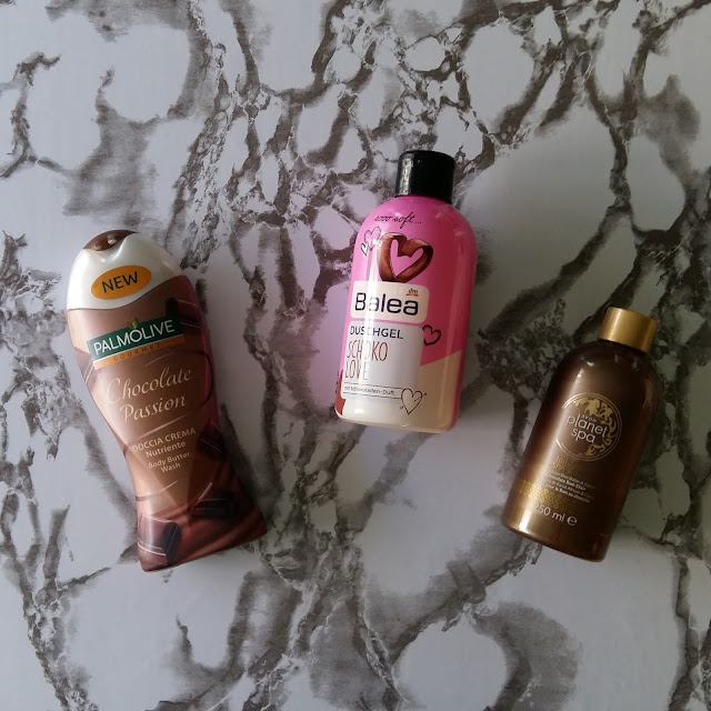 3 shower gels for the chocolate lovers