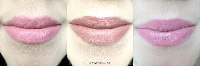Pink Lipstick Swatches, Urban Decay Vice Native Swatch, Anastasia Beverly Hills Crush swatch, ColourPop Bound Swatch