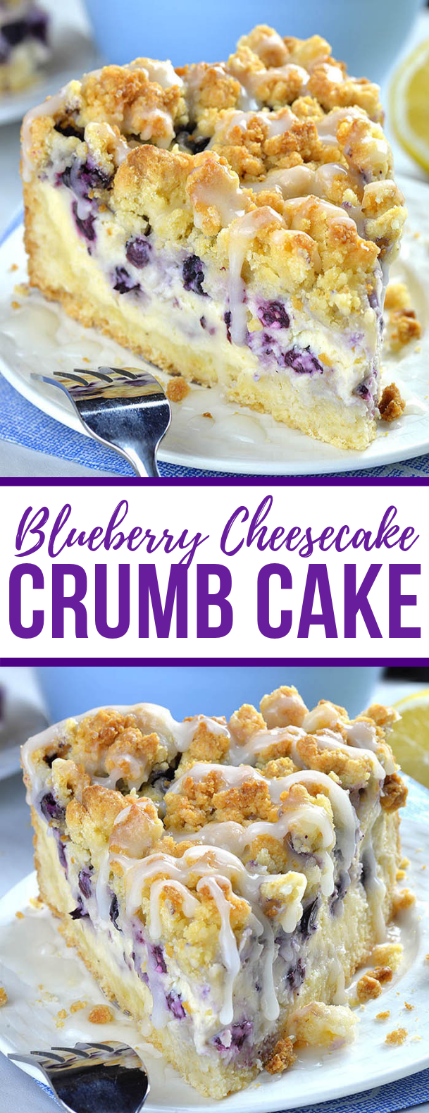 Blueberry Cheesecake Crumb Cake #deliciousdessert #easydessert