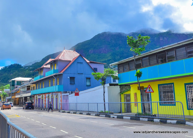 colorful street in Mahe