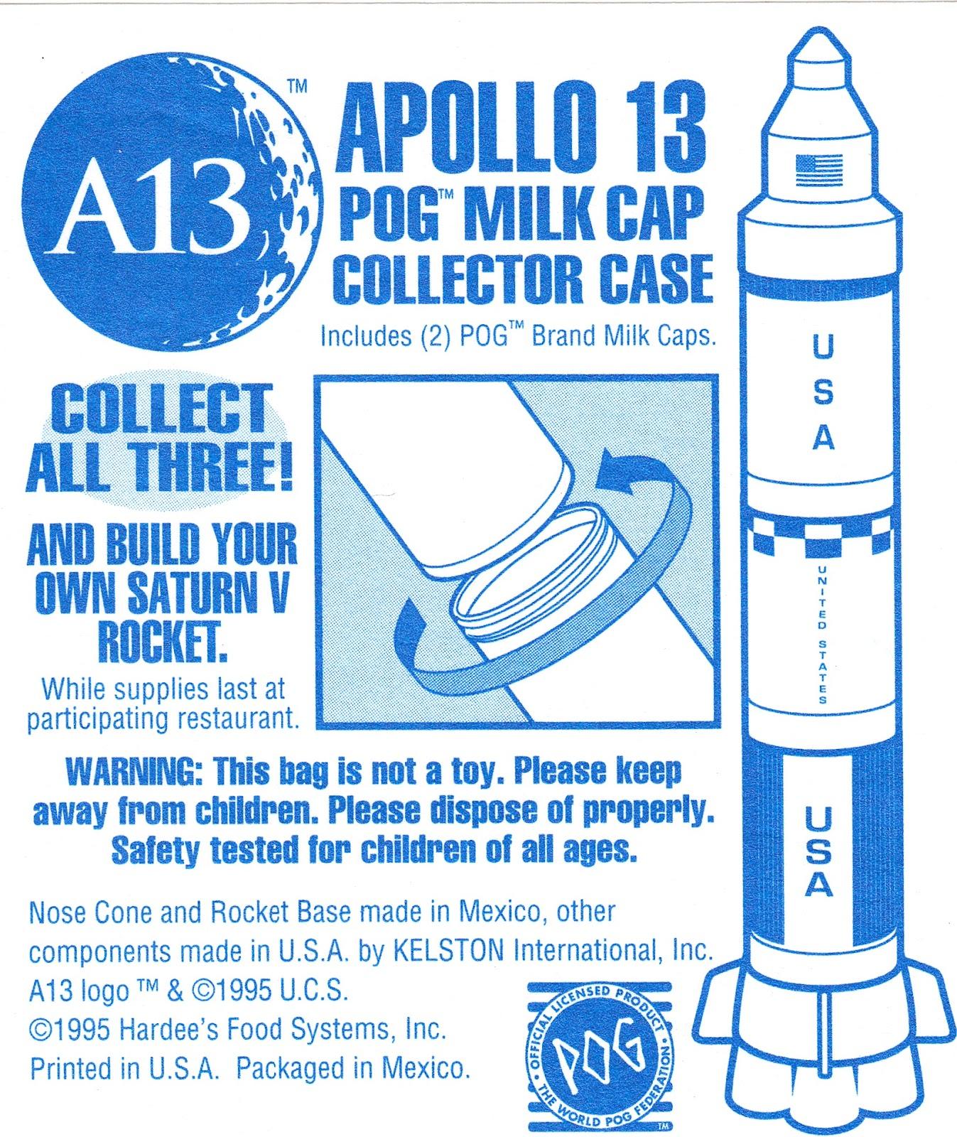 Toys and Stuff: Hardee's Apollo 13 Pog Collector Case 1995