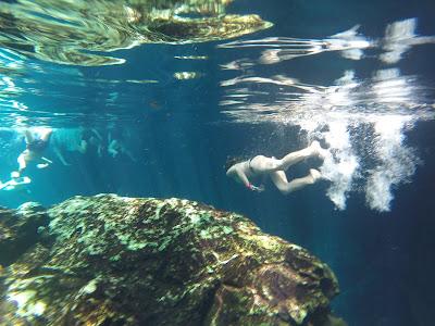 Buceando en el Gran Cenote