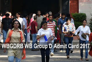WBGDRB WB Group D Admit Card 2017 West Bengal Group D Hall Ticket