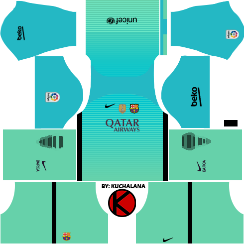 super popular cc8cc 987db Barcelona kits 2016/2017 - Dream League Soccer 2017 & FTS15 ...