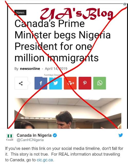 Canada denies asking Nigeria for 1m immigrants