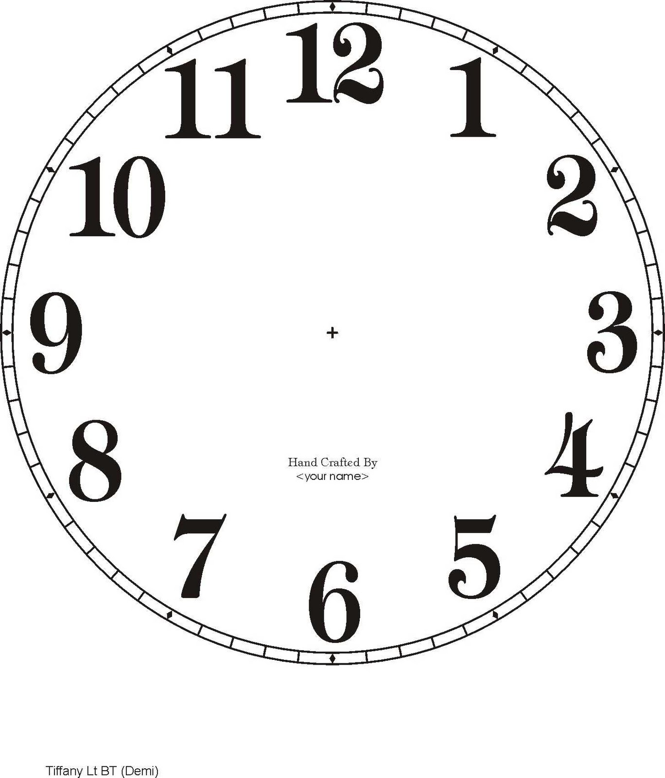 Be different act normal diy new years eve decorations for Clock face templates for printing
