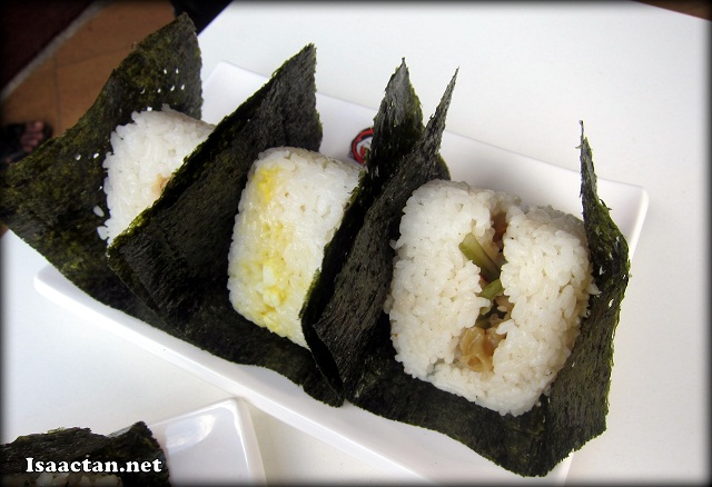 Various Japanese Onigiri, all at RM4 each