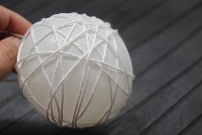 como hacer guirnaldas de bolas luminosas