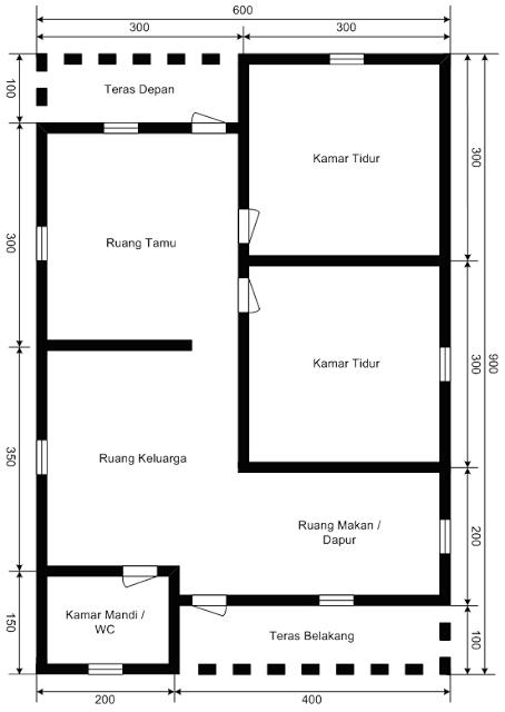 desain rumah minimalis type 54 4
