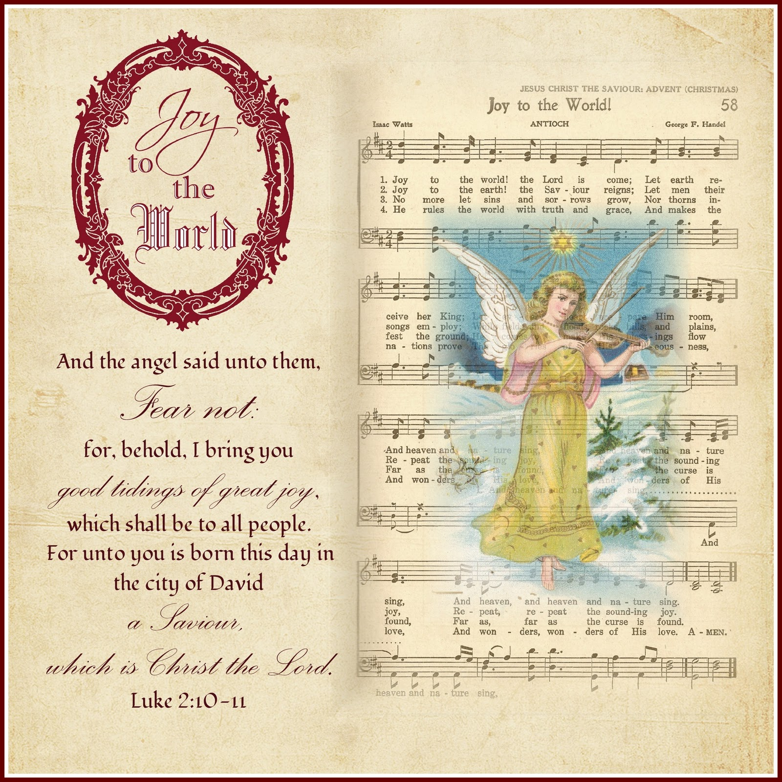 Little Birblessings Scripture Thursday Linky Party 6 Joy To The World