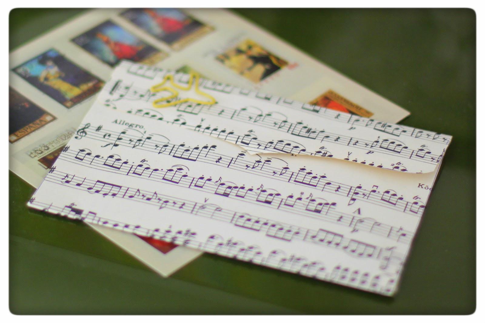 paecyipato Briefumschläge aus alten Notenblättern - paecyipato
