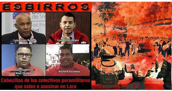 """¡""""GUAROS"""" EN PIE DE GUERRA! Resistencia enfrentando asesinatos, represión y atrocidades de GNB+""""Paralandros"""" del """"Chinolo"""" y """"Reyecito"""""""
