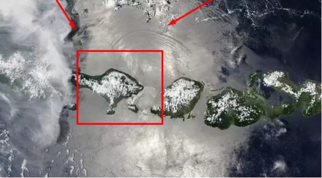 Mengapa di Foto NASA, Selat Lombok Tampak Seperti Sinyal Wi-Fi