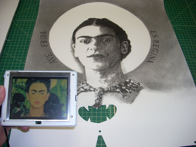 Frida Kahlo video drawing by F. Lennox Campello