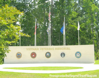 Vietnam Veterans Memorial at Lejeune Memorial Gardens in Jacksonville North Carolina