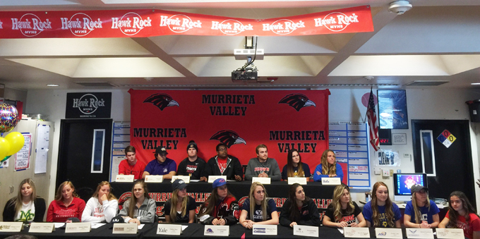 Group of 20 MVHS Athletes Sign Letters of Intent | Murrieta 24/7