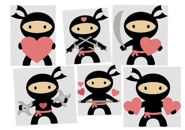 Clipart de Ninjas Enamorados.