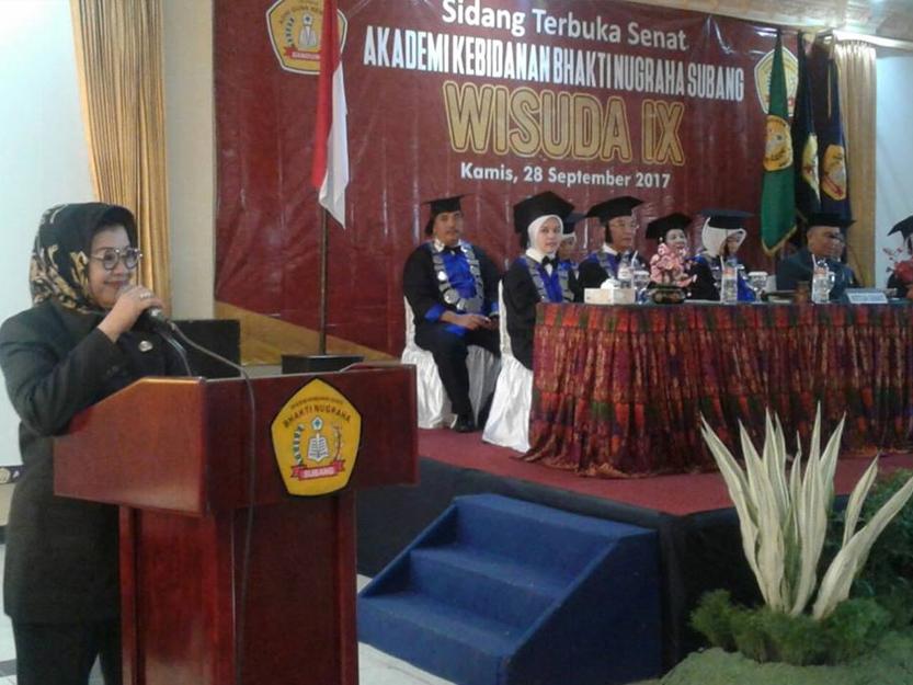 Akbid Bhakti Nugraha Subang Gelar Wisuda IX