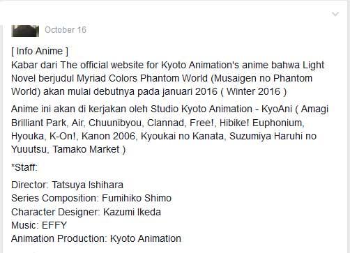 Dapat Informasi, dan hiburan mengenai anime