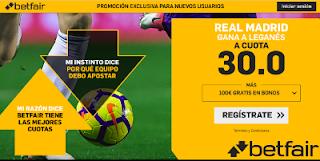 betfair supercuota liga Real Madrid gana Leganés 1 septiembre