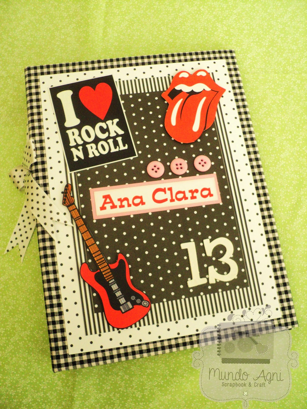 Rock N Roll Interieur Mundo Agni Scrapbook And Craft Album Para Fotos Rock N 39 Roll