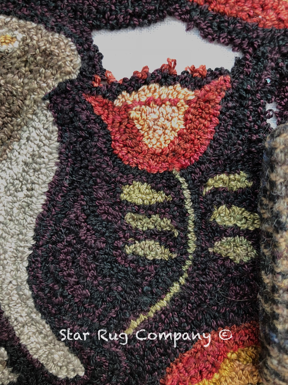 Star Rug Company Garden Rabbit Needle Punch Pattern