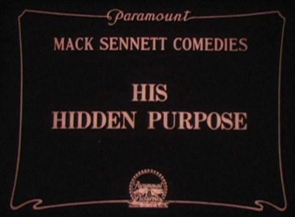His Hidden Purpose title screen