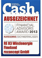 reconcept re03 cash bewertung rating rendite sachwert windenergie finnland