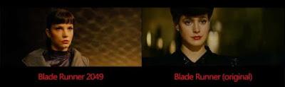 Personaje Rachael en Blade Runner 2049 vs original