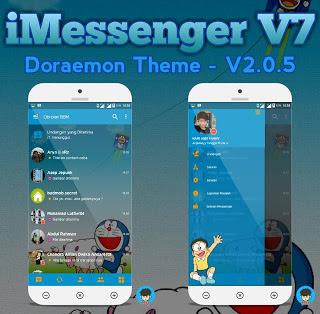 iMESSENGER V7 BBM DORAEMON THEME Base v3.0.1.25 Apk [Update]