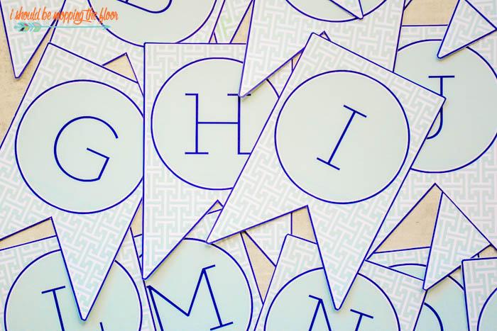 A-Z Banner Printable