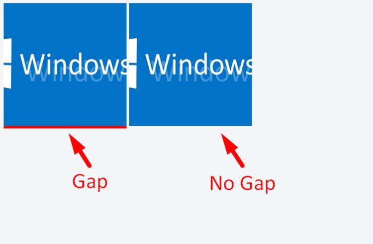 Menghilangkan Gap Atau Ruang Kosong Di Bawah Gambar