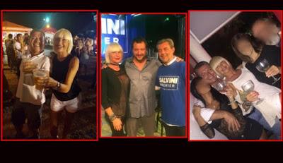 Matteo Salvini su Facebook con il boss e l'amica