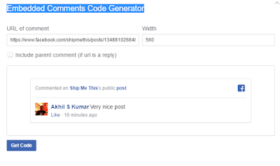 Facebook Embedded Comments Code Generator