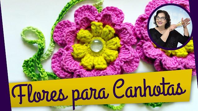 Edinir Croche ensina flores em crochê para canhota