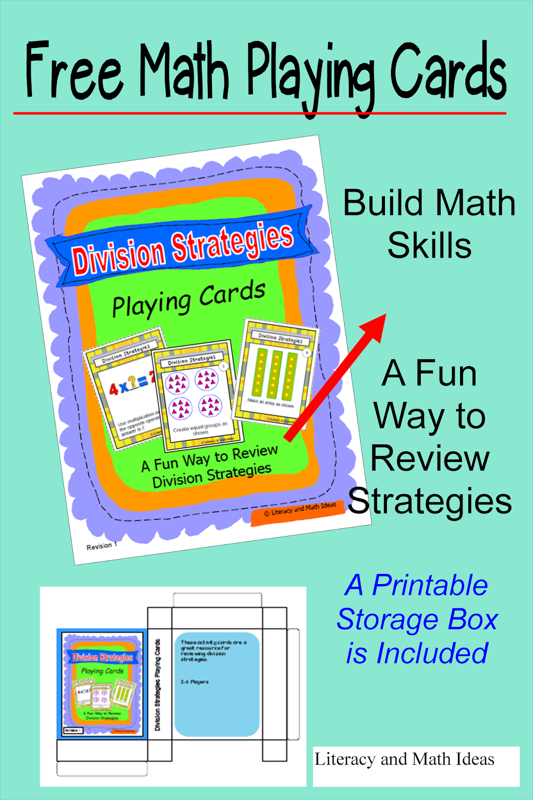 Literacy Amp Math Ideas Free Division Strategies Playing