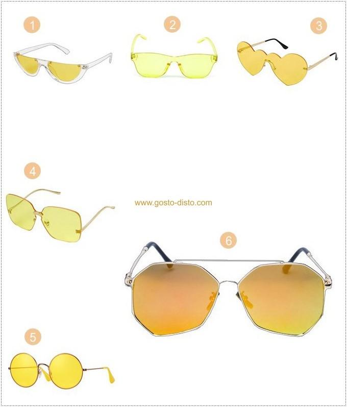 Óculos com lentes amarelas são moda verão 2018