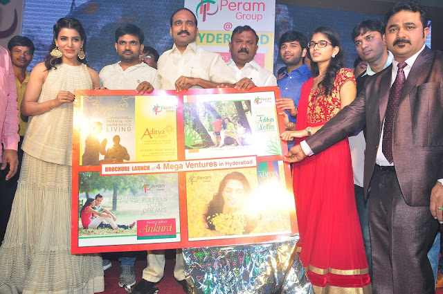 Actress Samantha Launches Peram Group Ventures Broucher