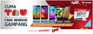 Telkomsel, Paket Internet Telkomsel, Cara Daftar Paket Internet TAU 4G,